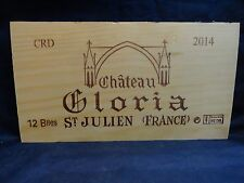 2014 CHATEAU GLORIA ST. JULIEN FRANCE WOOD WINE PANEL END