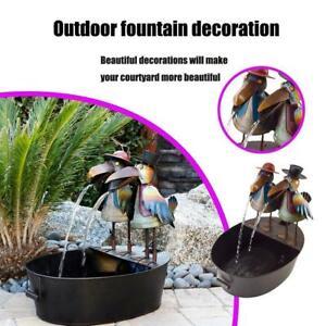 Outdoor Crow Water Fountain Yard Art Decor Home