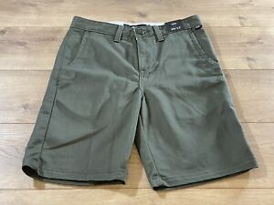 Vans Authentic Stretch Shorts Boys Green Youth Large  ( VN0A3178KCZ ) NWT!!