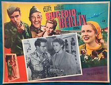 THE BIG LIFT Montgomery Clift VINTAGE MEXICAN LOBBY CARD 1950