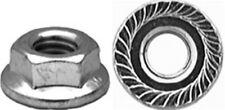 50 M6-1.0 Metric Spin Lock Nut W/Serrations 14mm Flange