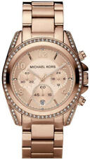 Michael Kors MK5263 Blair Rose Gold-Tone Pave Crystal 39mm Women's Watch