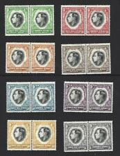 SOUTH WEST AFRICA 1937, GEORGE VI CORONATION, SET OF 8 STAMPS IN BILINGUAL, MH