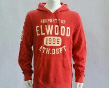 Elwood Men's Department Fleece Hoodie Pullover Hoody Jumper Warm Red Size S-XL