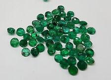 Natural Loose Brazil Dark Green Emerald Transparent 2.8-3mm 20pc 2cts Lot