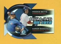 8516  2014 Bowman Chrome Dualing Die-Cut Refractor Mookie Betts RC BK$25