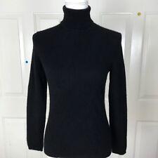 Charter Club Macy's Women's 100% Cashmere Sweater Black Sz M Turtle Neck