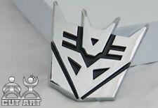 D147 Transformers Decepticon auto aufkleber 3D Emblem Badge  car Sticker silber