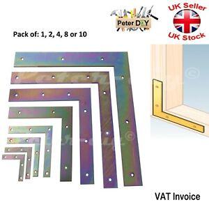 "Flat Bracket ""Yellow"" Door Angle Mending Plate Joiner Connector 50-300mm Packs"