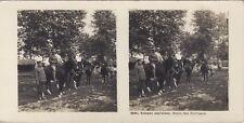 Grande Guerre Troupes anglaises UK WW1 Photo Stereo Vintage Argentique