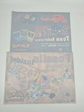 More details for official nintendo pokemon fossil team rocket retail shop display window stickers