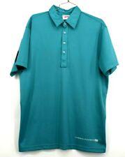 J Lindeberg Mens Large Future Sport Short Sleeve Blue Athletic Casual Polo Shirt