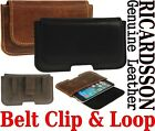 Cinturón Clip & Aro Soporte ricardsson CUERO REAL Funda para Samsung Teléfono