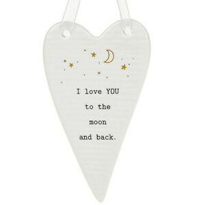 Thoughtful Words Plaque : I Love YOU To The Moon And Back