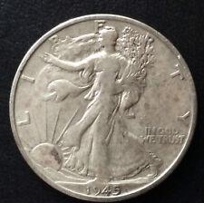 1945-S Liberty Walking Silver Half Dollar U.S. Coin A3460