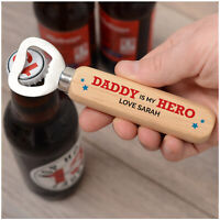 PERSONALISED Dad Daddy Grandad Birthday Gifts for Him Wooden Bottle Opener