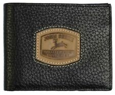 John Deere Men's Billfold Wallet w/Stitched Patch - Black   4054000-001