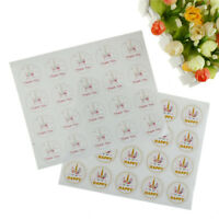 60xUnicorns Happy and Thank you Seal Stickers Gifts Packagings Stickers Label xf