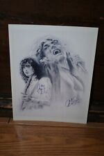 Signed Led Zeppelin Robert Plant Jimmy Page 8 x 10 Glossy Photo Reprint.
