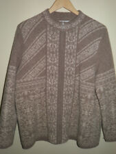 Pendleton Womans Zip Front Lined Lambswool Cardigan Knit Sweater Jacket -Size LP