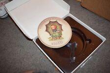 Goebel 1978 #690 Collectors Club Member Plate 2 Umbrella Girl Porcelain W/ Box