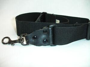 """Vintage CAMERA NECK STRAP,  Black 1 1/2/"""" wide ,   #3945"""