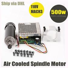 Konmison 1Set Mini CNC Lathe Air Cooled 500W Spindle Motor CNC 0.5KW with 52mm C