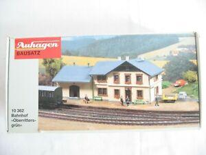 VJ161* Auhagen H0 10362 Bahnhof ''Oberritters grün'' OVP