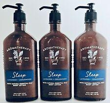 3 BATH & BODY WORKS AROMATHERAPY SLEEP LAVENDER + CEDARWOOD BODY LOTION 6.5 oz