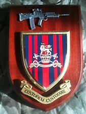 Military Provost Guard Service Wall Plaque Pewter Sa80