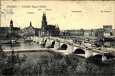 Dresden Sachsen 1913 Friedrich August Brücke Ständehaus Georgentor Hofoper Oper