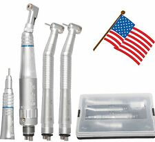 NSK Style Dental 4 Hole Low & High Speed Handpiece Kit Push Button USA Stock