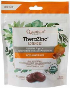 TheraZinc Lozenges by Quantum Research, 18 count Blood Orange
