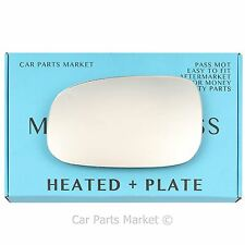 Left Passenger side Flat Wing mirror glass for Volvo s40 2007-2008 heated +plate