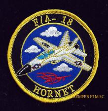 F-18 HORNET HAT FLIGHTSUIT PATCH US NAVY NAS MCAS MCDONNELL DOUGLAS QUILT GIFT