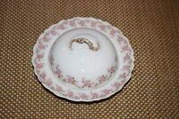 Antique Limoges Elite Lidded Caviar Dish Pink Roses Higgins & Seiter NY