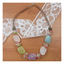 "18"" Necklace Costume Jewellery Statement pastel Crystal Party Boho Fashion 180"