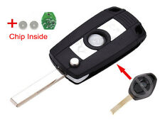 Folding Remote Key 315/434MHZ ID44Chip for BMW E81 E46 E39 E63 E38 Uncut HU92