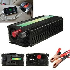 Pure Sine Wave 1000W Modified Power Inverter DC 12V to 220V Camping Boat Caravan