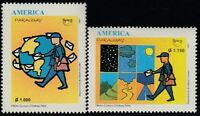 Upaep Paraguay 2733/34 1997 Postman Around of The Earth MNH