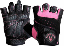 Ladies Gel Gloves Fitness Gym Wear Weight Lifting Workout Training Cycling Pink