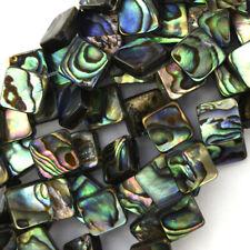 """10mm abalone shell diamond beads 15.5"""" strand"""