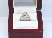 1.55 CARAT NATURAL DIAMOND ENGAGEMENT RING CHAMPAGNE 18K GOLD