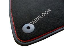 Für Audi A4 Cabrio Fußmatten Velours schwarz mit Nubukband rote Absetzung Sport
