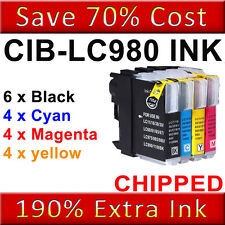 18 Compatible Printer Ink Cartridges for Brother DCP-195C DCP-197C [LC980]