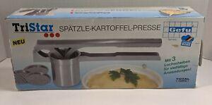 Gefu Potato & Spaetzle Press TriStar, Accessories, 18/10 Stainless Steel, 13100