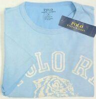 NWT $49 Polo Ralph Lauren T Shirt  Tiger Mens Small  Light Blue Short Sleeve NEW