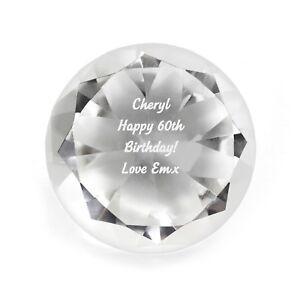 Personalised Engraved Diamond Paperweight - , Birthdays, Anniversary, Graduation