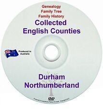 Genealogy England Durham Northumberland books DVD