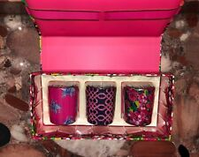 NWT Lilly Pulitzer Lily's Jungle Mini Scented Glass Votive Candles 3 Piece Set